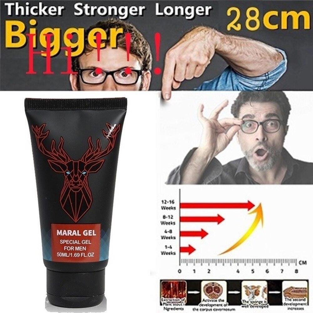 Extensor de Gel Maral para agrandar el pene para hombre, crema para el momento de sexo masculino más grande, previene la eyaculación prematuro, productos sexuales de 50ml 18 +