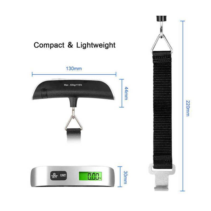 Realmote Bagage Scale 110lb/50Kg Elektronische Digitale Draagbare Koffer Reizen Weegt Bagage Tas Opknoping Weegschaal Lcd