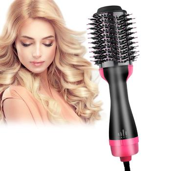 Hair Blow Dryer Hot Air Brush Electric Professional 4 in1 Negative Ions Hair Salon Volumizer Straightener Curler Styler Comb new hot sale electric blow brush hair dryer professional hot air styler hair styling tools free shipping