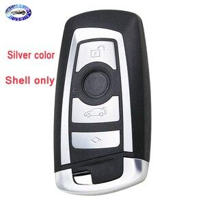 Image 1 - Guscio chiave intelligente di ricambio a 4 pulsanti per BMW CAS4 F 3 5 7 serie E90 E92 E93 X5 F10 F20 F30 F40 custodia chiave per auto remota