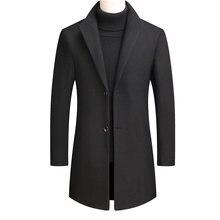 Зимняя мужская одежда мужское пальто шерстяное Мужское зимнее