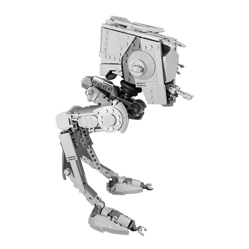 В наличии MOC Series The Rogue One At-ST Walker Set, Образовательные Кирпичи, игрушки, совместимые с MOC, строительные блоки Space Wars 05066