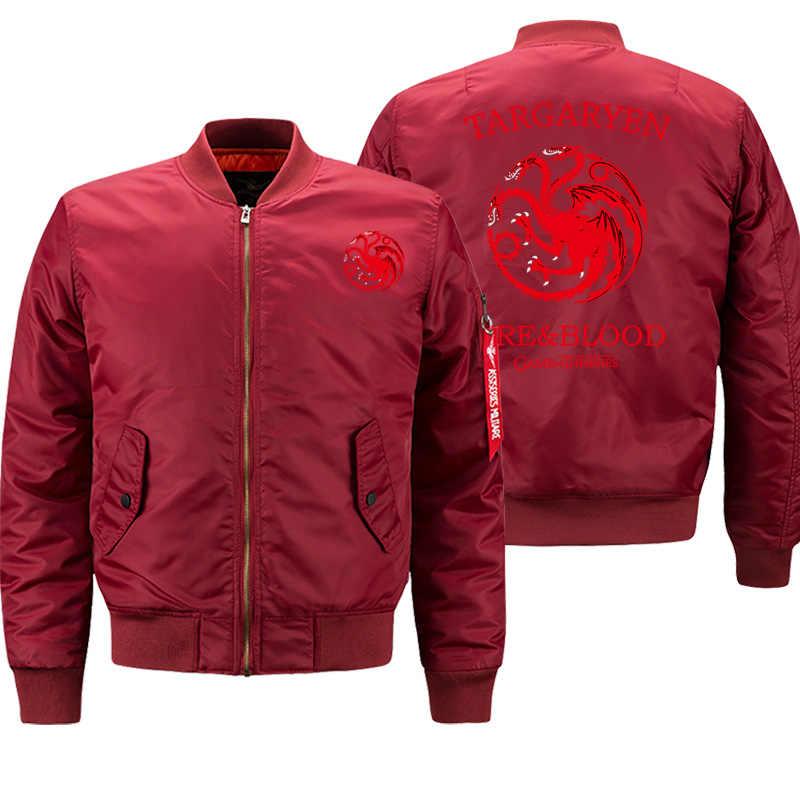 Game Of Thrones Maschio Militare Bomber Giacca di Nuovo Alla Moda del Mens di Marca Cappotti Caldi casual di Spessore Outwear Hip Hop Moto Streetwear