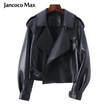 2021 neue Stile frauen Frühling Jacke Mode Echtem Schaffell Mantel Motorrad Echt Leder Jacke Dame Herbst Biker S7547