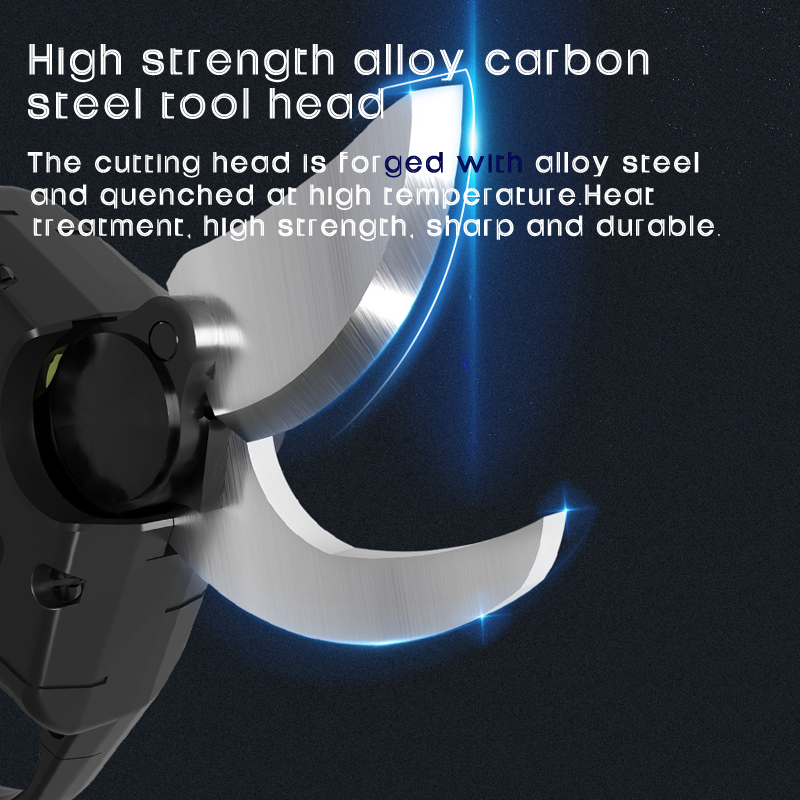 Tools : haowook 2000mAh Cordless Electric Rechargeable Pruning Shears Secateur Branch Cutter Electric Fruit Garden Pruner Pruning Tool