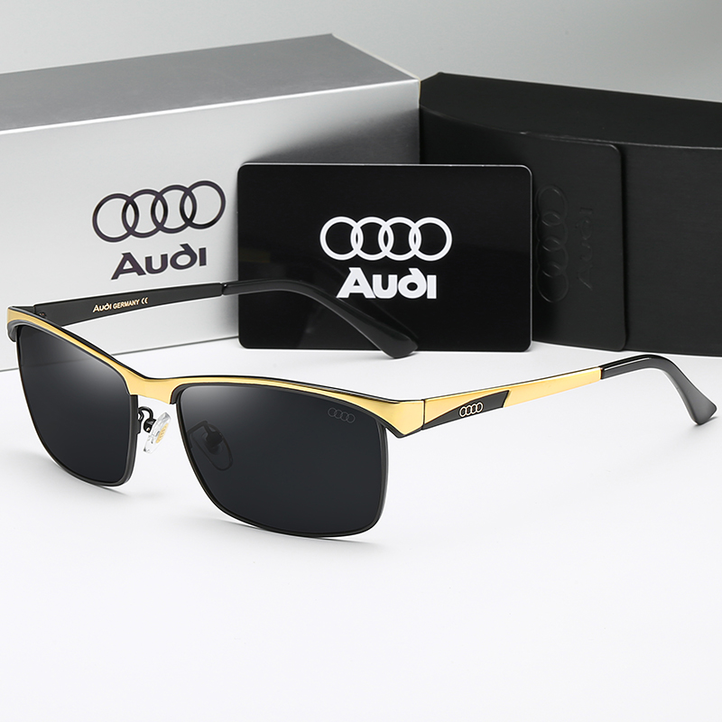 High Quality Men Sunglasses Star Style Frame Oversized Alloy Polarized Brand Design Pilot Male Sun Glasses Driving