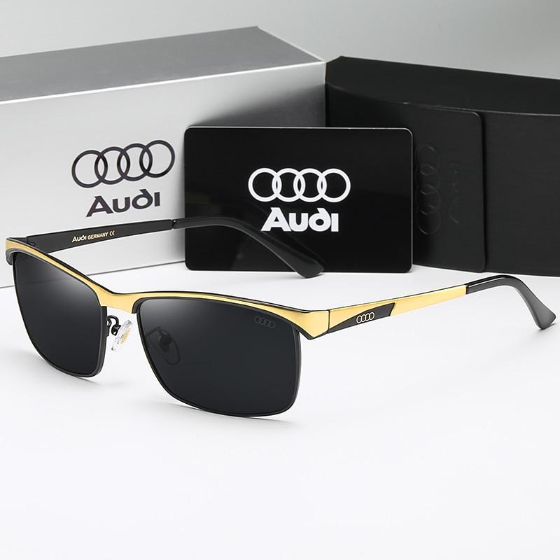 High Quality Men Sunglasses Star Style Frame Oversized Alloy Polarized Brand Design Pilot Male Sun Glasses Driving