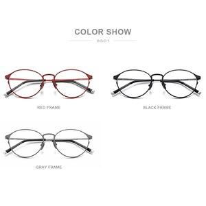 Image 5 - กรอบแว่นตา Titanium กรอบแว่นตา Vintage Vintage รอบแว่นตา Classic ออพติคอลยี่ห้อ Designer กรอบแว่นตาผู้หญิง 8501