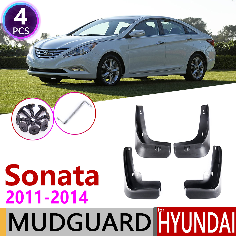 Car Mudflaps For Hyundai Sonata I45 YF 2011 2012 2013 2014 Fender Mud Guard Flap Splash Flaps Mudguards Accessories 6th 6 Gen