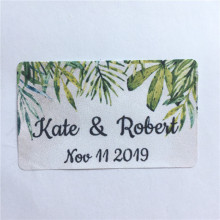 100 Pieces 3cm x 5cm Custom Wedding Gift Sticker Personalized Rectangle Adhesive Labels Birthday Gifts Favor Labels