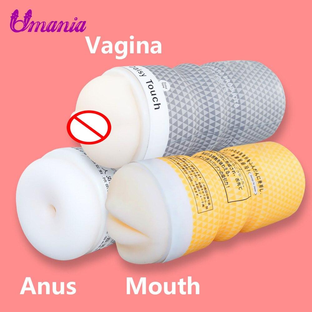 Masturbator For Men No Vibrator Silicone Oral Sex Artificial Vagina Pussy Male Masturbator Erotic Toys Ass Masturbation Sex Toys