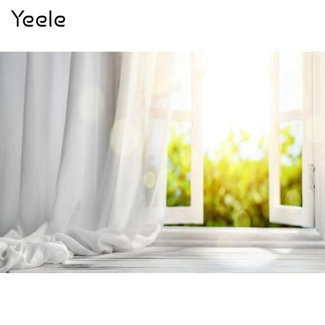 Yeele biały dom kurtyna okno słońce wnętrze fotografia tła dostosowane fotograficzne tła dla Photo Studio