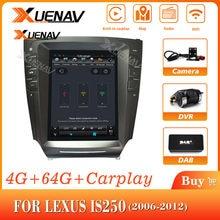 Автомобиль авто радио мультимедиа плеер для LEXUS IS250 2006-2012 автомобильный радиоприемник с навигацией GPS 2din android MP3 игрока вертикальный экран DVD p