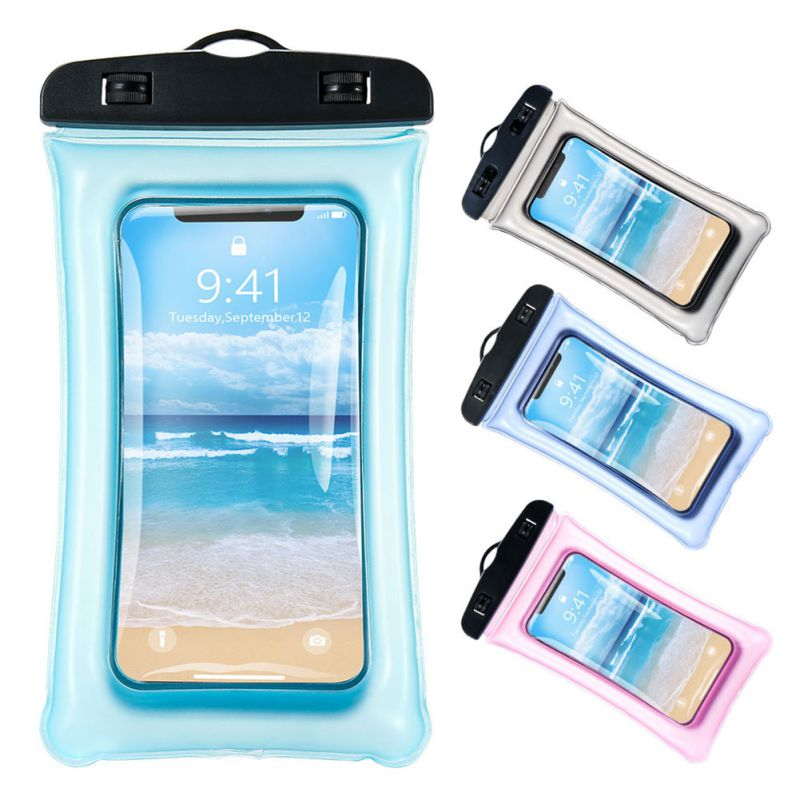 Universal Dry Bag Waterproof Phone Case Glow In The Dark Pouch Clear Transparent Sealed Heavy Duty Silicone Protection