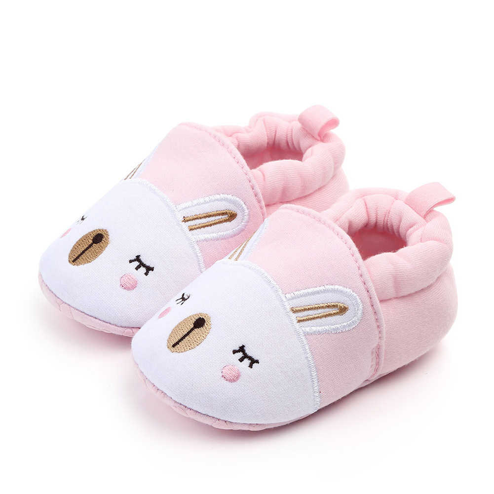 Cute Newborn Baby Boy Girl Crib Shoes Infant Toddler Soft Sole Trainers 0-18 M