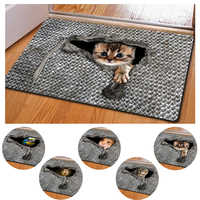 Floor Mat for Entrance Door Anti-slip Door Carpet for Living Room Printed Animal Tapis Cuisine Door Mats Tapis de Bain Felpudo