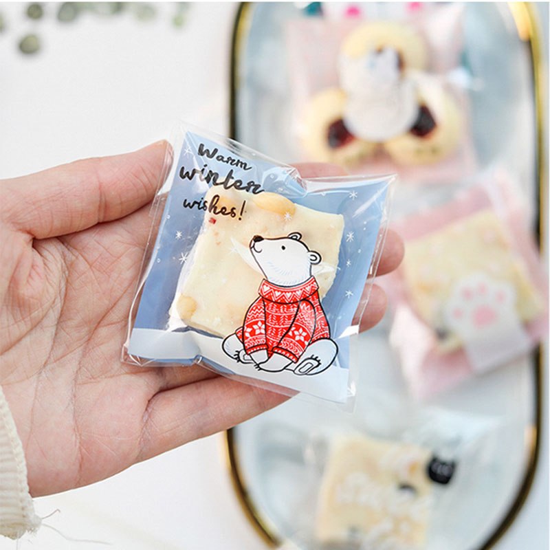 Biscuit Wedding Self-adhesive Lace Plastic Cake Bag Candy Bags Packaging Small