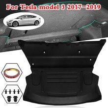Автомобильный задний багажник, звукоизолированный хлопковый коврик, звукоизолирующий защитный чехол, наклейка для Tesla модель 3