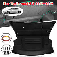 Car Rear Trunk Soundproof Cotton Mat Sound Proof Deadening Protective Cover Sticker For Tesla Model 3 2017 2018 2019