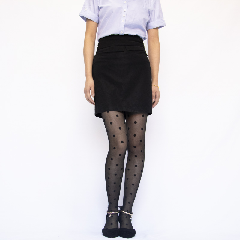 H25797e83f609401199c4d086be3349cc9 1PC Sexy Women Pantyhose Tights Summer Nylon Polka Dot Print Stockings Seamless Fishnet Mesh Female Hosiery Vintage Faux Tattoo