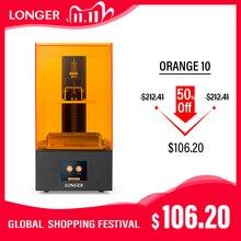 LONGER Orange10 3D طابعة بأسعار معقولة SLA 3D الطباعة الذكية دعم سريع التقطيع الأشعة فوق البنفسجية ضوء علاج سهلة تعمل مستوى الدخول