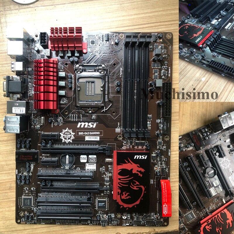 MSI B85-G43 carte mère originale de jeu DDR3 LGA 1150 USB2.0 USB3.0 DVI HDMI VGA 32GB B85 i3 i5 i7 B85 utilisé carte mère de bureau