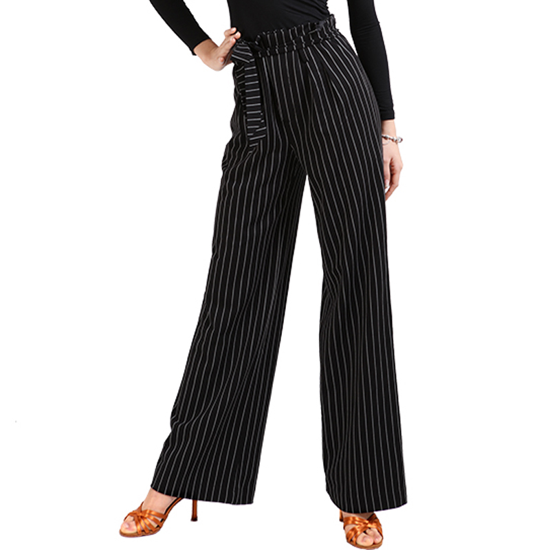 New Latin Dance Costumes For Women Adult High Waist Practice Latin Dance Pants Modern Ballroom Dancing Stage Trousers VO358