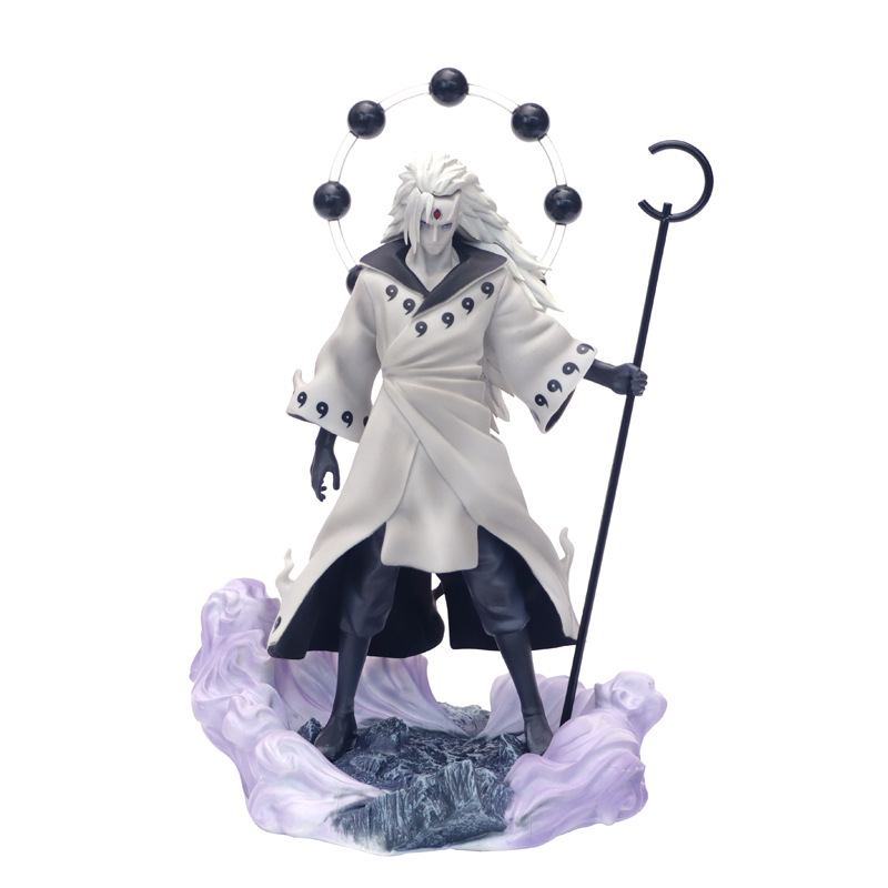 Anime Naruto 3 Heads Uchiha Madara Action Figure Rikudo Sennin PVC Model Toy Statue Birthday Xmas Gift B19