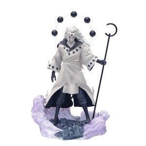 Anime Naruto 3 Heads Uchiha Madara Action Figure Figurines Rikudo Sennin PVC Model Toy Statue Birthday Xmas Gift T30(China)