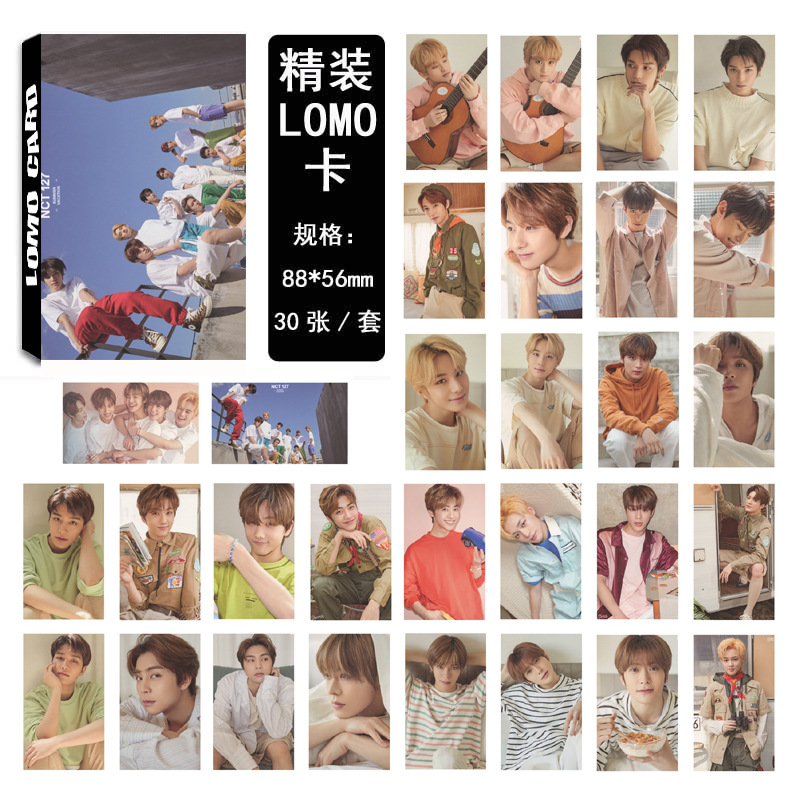 30pcs/set Kpop NCT 127 Dream Photocard  SUMMER VACATION KIT Album Good Quality HD Nct 127 Dream Kpop Lomo Photo Card