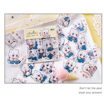 40pcs/lot Japanese Girl series Mini Paper Sticker Decoration Diy Ablum Diary Scrapbooking Label Sticker Kawaii Stationery 2 pcs lot vintage sweet life paper sticker diy scrapbooking diary album label sticker post kawaii stationery school supplies