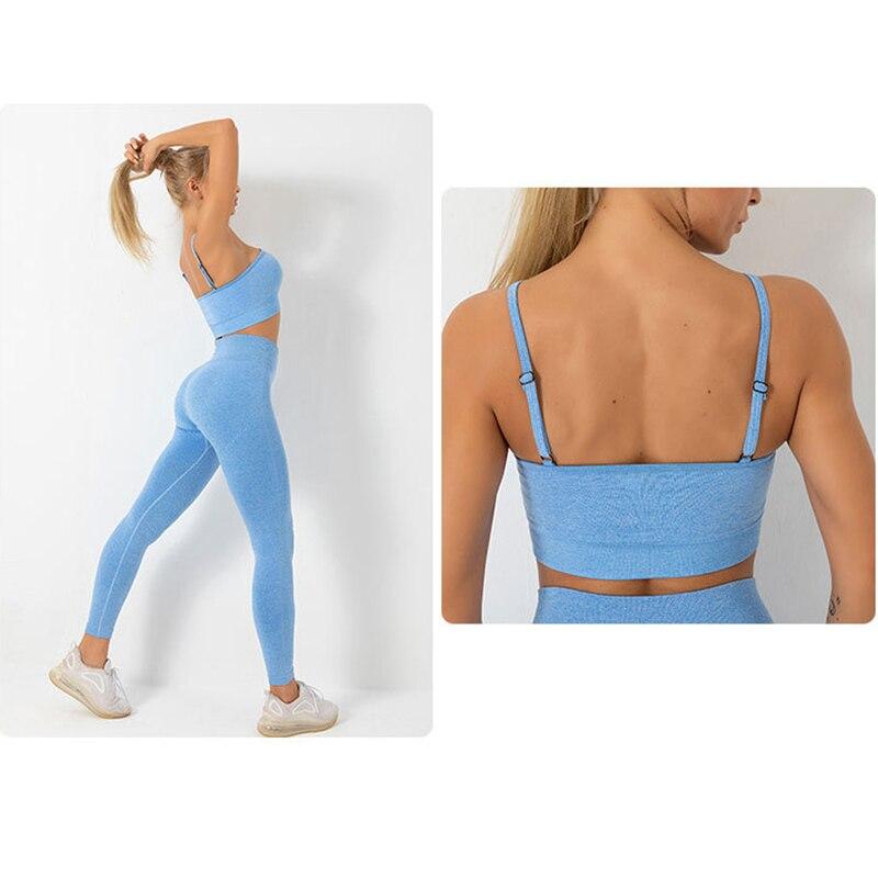 Women's Seamless High Waist Quick Dry Leggings and Sport Bra Sets