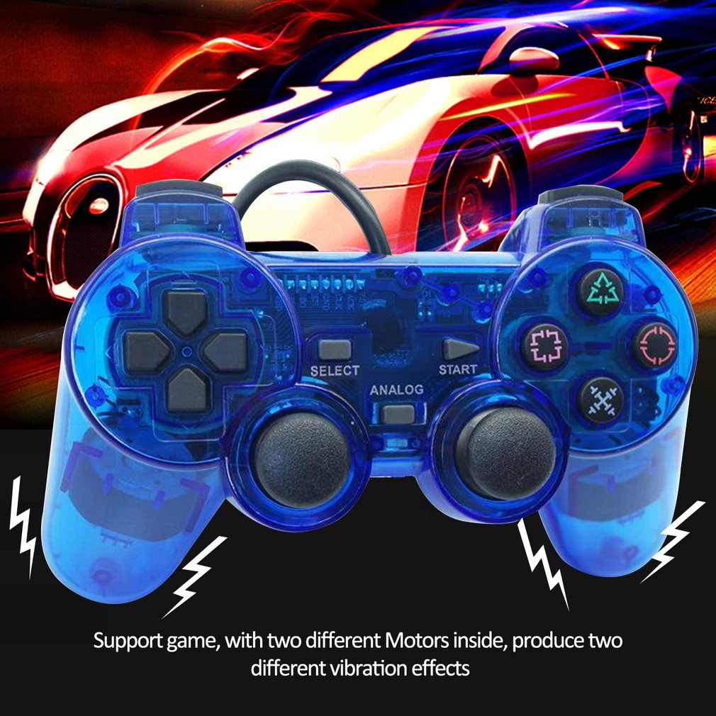 Wired Gamepad for Sony PS2 Controller Joystick for plasystation 2 Double Vibration Shock Joypad Wired Controle in Gamepads from Consumer Electronics