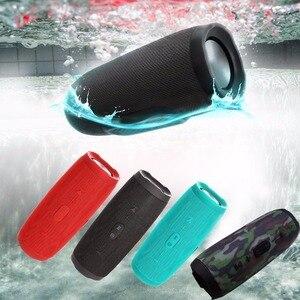 Беспроводная Bluetooth колонка, Портативная колонка с громким звуком, басовая стерео уличная сабвуферная колонка, громкая связь, TF карта, AUX USB пл...