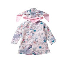 Baby Girl Clothes Cute Cherry Printed Long Sleeve Hooded Sweatshirt Bab