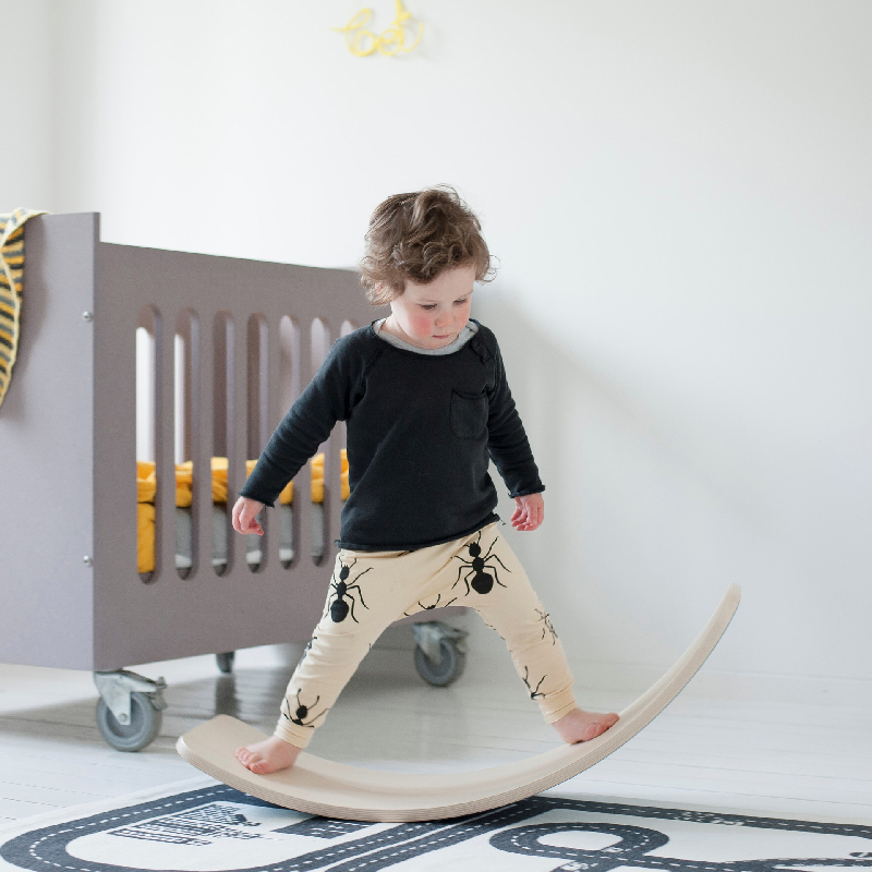 Child Balance Toy Wooden Seesaw Indoor Curved Board Baby Double Wooden Outdoor Seesaw Yoga Board Outdoor Toys for Kids free ship - 3