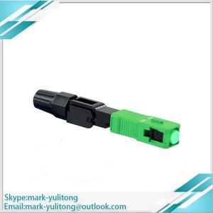 Image 5 - 100 قطعة FTTH وضع واحد SC APC موصل موصل سريع موصل الألياف البصرية سريعة