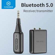Hagibis Bluetooth 5.0 Receiver Transmitter with Airplane Flight Audio Adapter aptx For TV Headphone PC PS4 Bose Beats AirPods