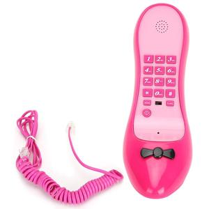 High-heeled Shoes Shape Telephone Home Landline Phone Office Desktop Cordless Telephone Wire Phone with Number Storage Function
