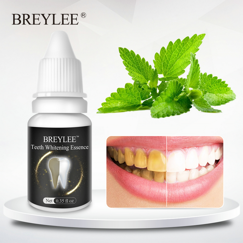 BREYLEE Teeth Whitening Gel Essence Oral Hygiene Tooth Powder  Cleaning White Teeth Care Bleaching Dental Tools Toothbrush 10ml