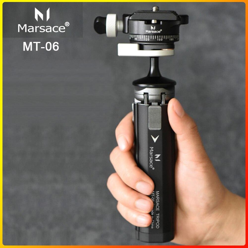 Marsace MT-06 High Bearing Camera Phone Stand Lightweight Tabletop Mini Tripod For Smartphone Fuji Sony DSLR Mirrorless Camera