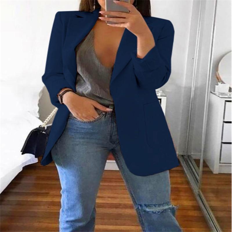 Hot style fashion lapel slim cardigan temperament suit jacket woman