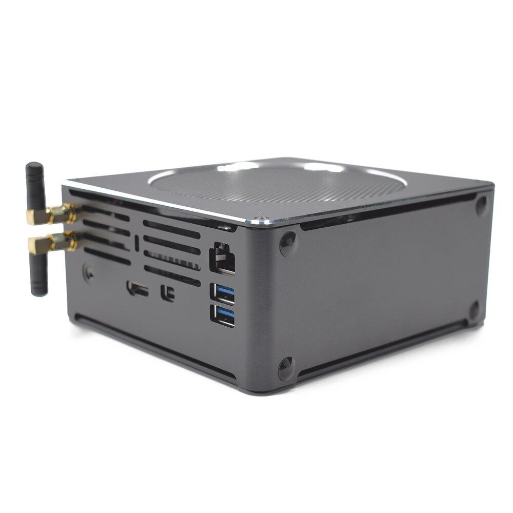 Eglobal S200 Mini PC I7-8750H 16GB+256GB/512GB Quad Core Win10 DDR4 Intel UHD Graphics 630 4.1GHz Fanless Mini Desktop PC