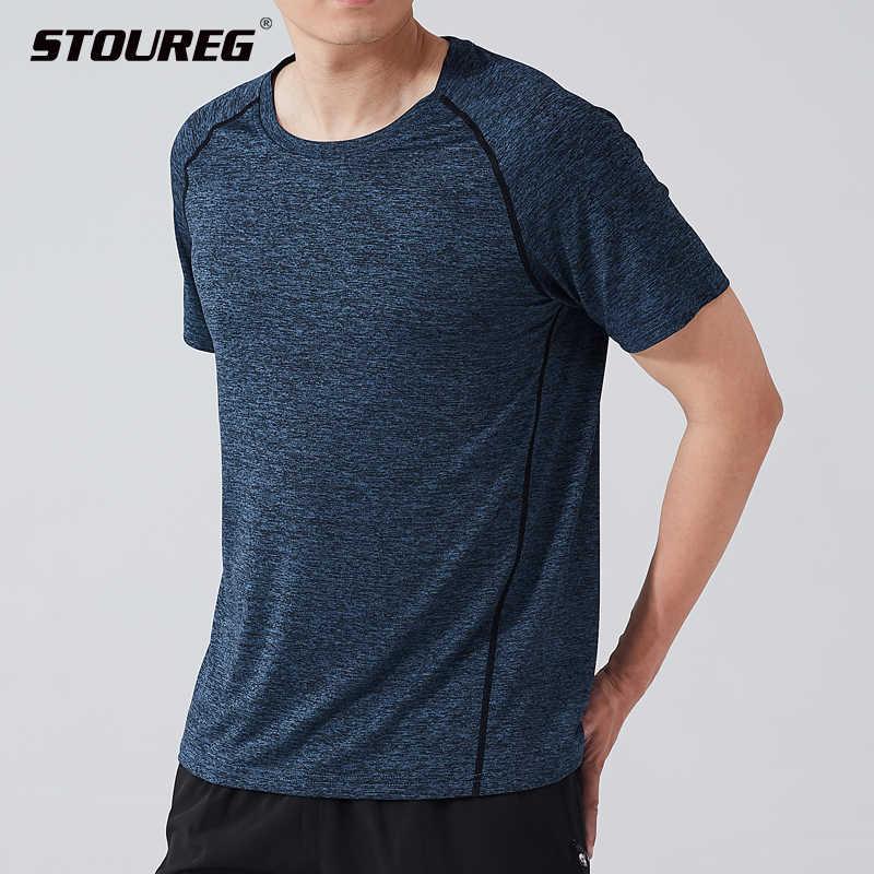 Hızlı kuru spor forma spor T shirt erkekler kısa kollu koşu T shirt erkekler egzersiz eğitimi tee spor üst spor t-shirt