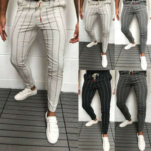 Trousers Dress-Pants Suit Slim-Fit Business Office Skinny Formal Stripe Casual Stylish