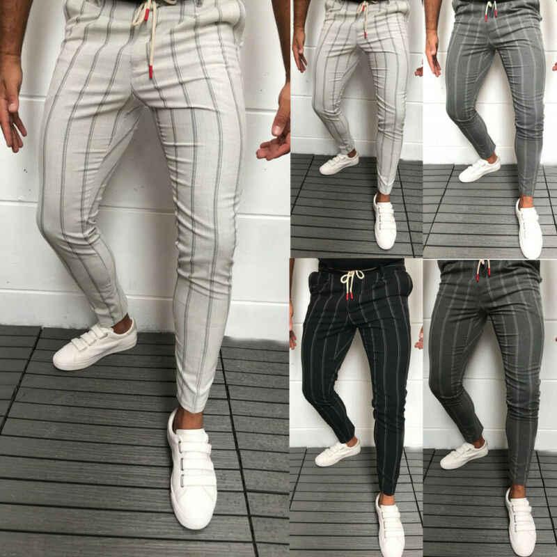 Novedad De 2020 Pantalones Formales De Negocios A Rayas Ajustados A La Moda Para Hombre Pantalones De Oficina Informales Traje De Negocios Ajustado Formal Pantalones Aliexpress