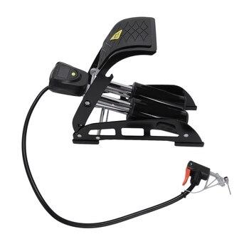 ELOS-Portable Bike Foot Air Inflator Pump with Led Gauge High-Pressure Steel Inflatable Pump for Bicycle Motorcycle Mtb Car Cy