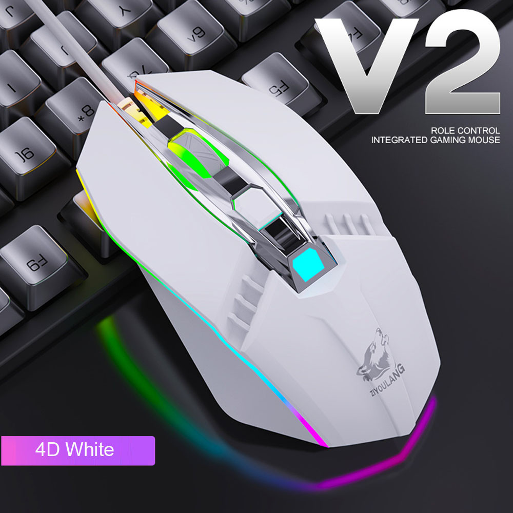 Gaming Mouse 1800DPI LED 4 Buttons USB Wired  Mechanical Feel Mouse Mice Computer  Mouse Gamer