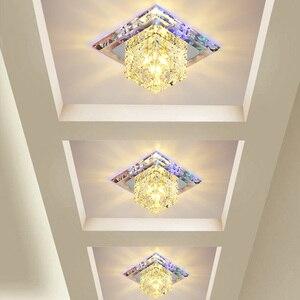Image 4 - Kristal tavan ışıkları LED Modern avizeler Yeelight oturma odası mutfak armatürü 3W/5W iç mekan aydınlatması plafonniers koridor