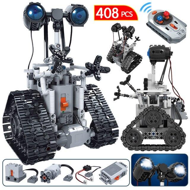 408PCS City Electric Remote Control Intelligent Robot Building Blocks For Technic MOC RC Robot Bricks Toys For Boys